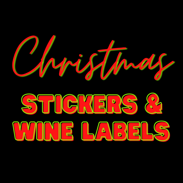 2021 Christmas Stickers & Wine Labels