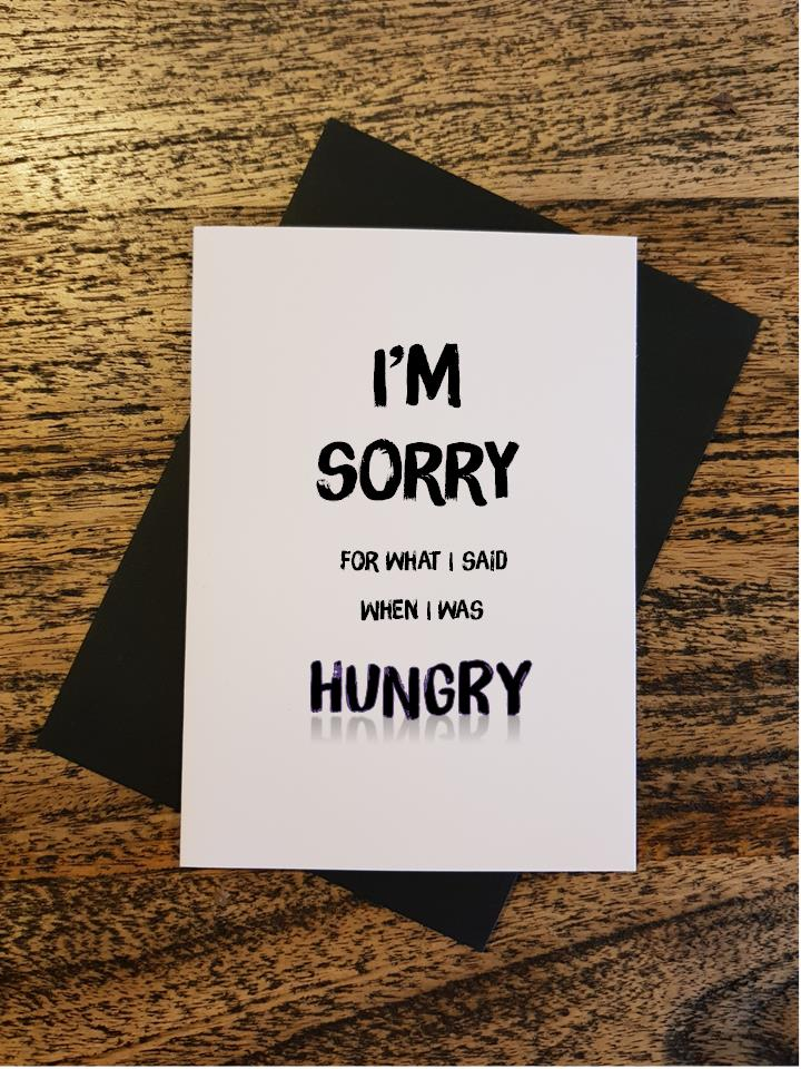 Sorry - Hungry & Sorry