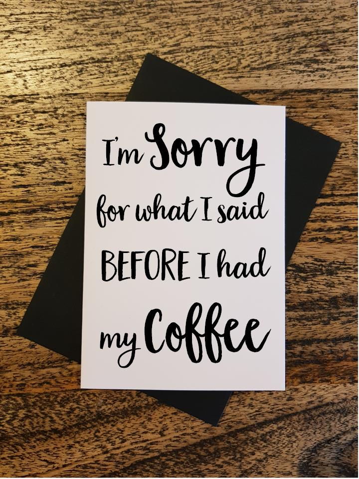 Sorry - Sorry Before Coffee